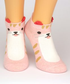 Sneaker pink mit Katzenmotiv