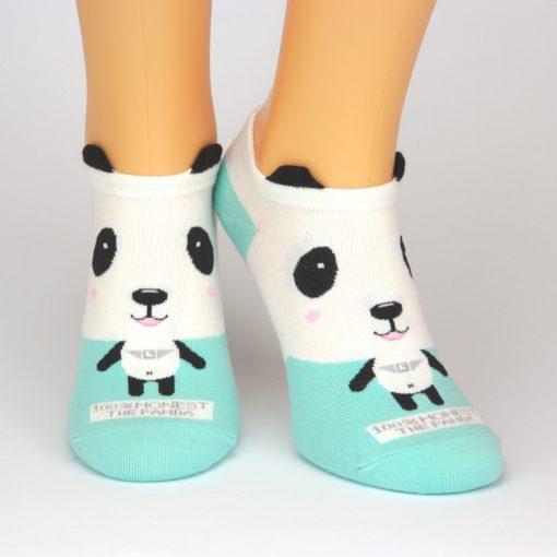 Sneaker mit Pandabär Tiermotiv