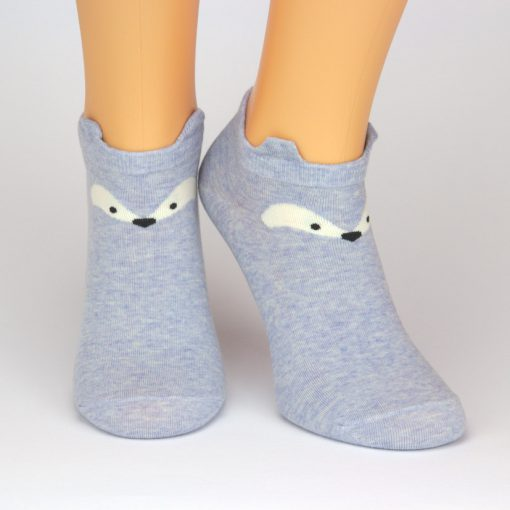 blaue Socken Sneaker mit Fuchsaugen