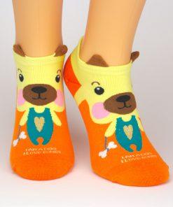 Socken Sneaker mit Hunde Charakter als Tiermotiv