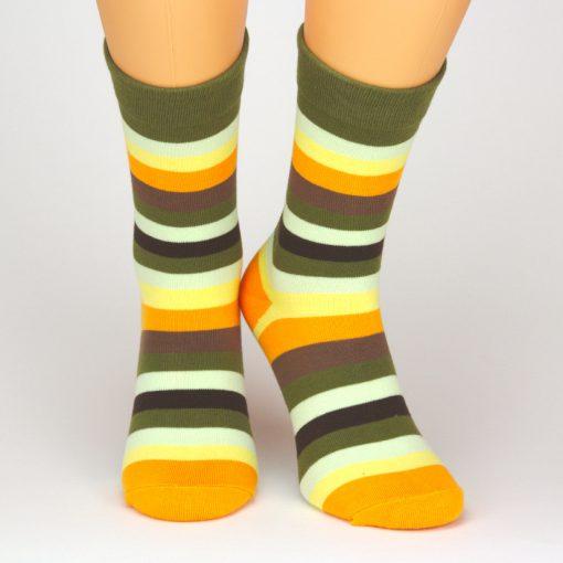 Charaktoes Socken mit bunten leuchtenden Streifen