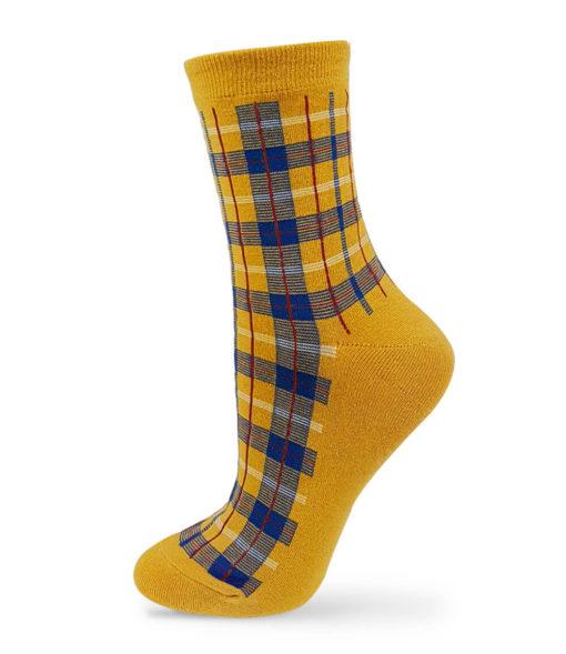 Fashion-Socken gelb kariert