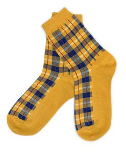 Charaktoes - gelb karierte Socken