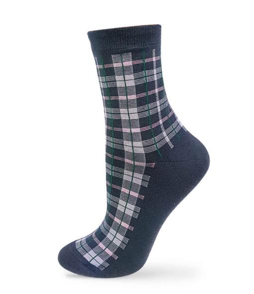 klassische karierte Socken in grau