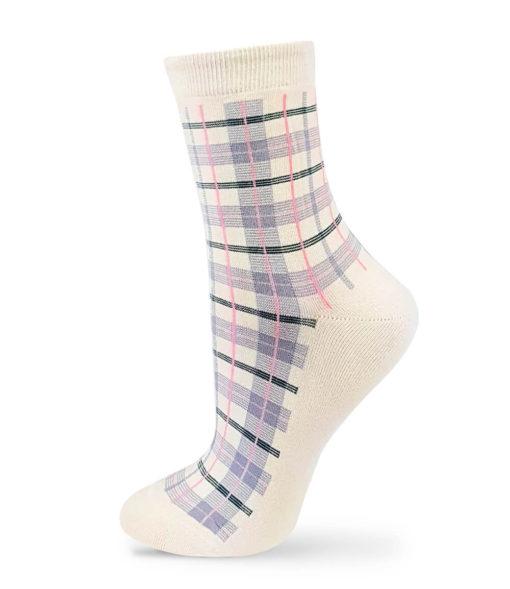 elfenbein karierte Socken von Charaktoes