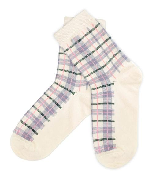 beige Fashion - Socken mit Karos von Charaktoes