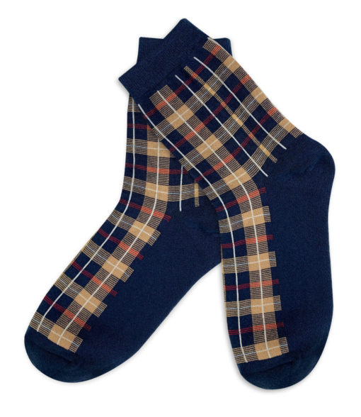 Fashion Socken blau kariert