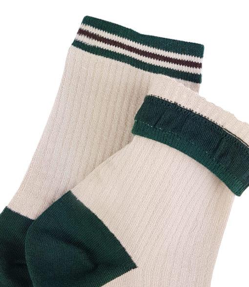 Basic Socken in elfenbein grün