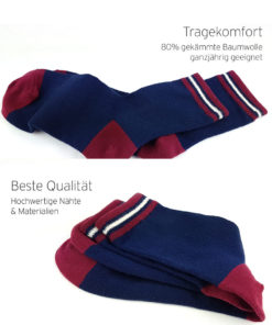blaue Socken - Tragekomfort