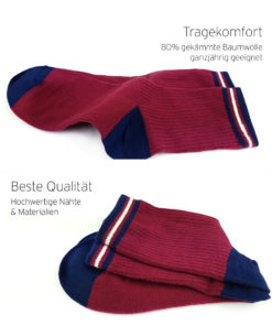 Tragekomfort rote Socken