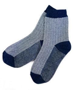 Business-Socken blau Wellenmuster Fashion