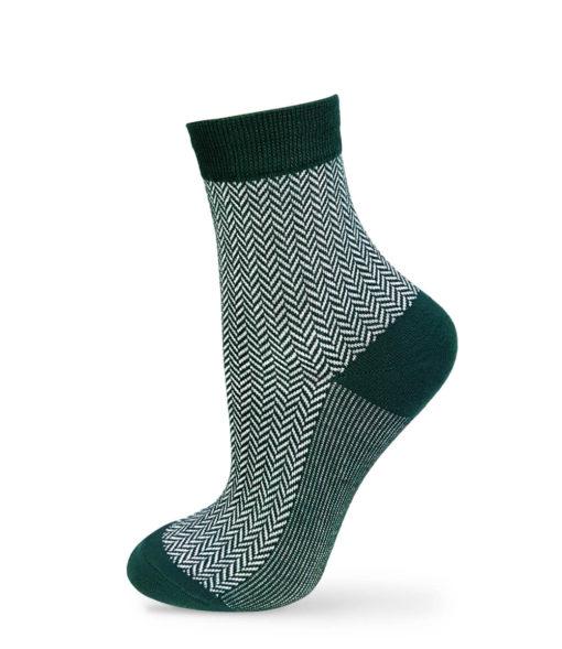 Jacquard-Socken grün