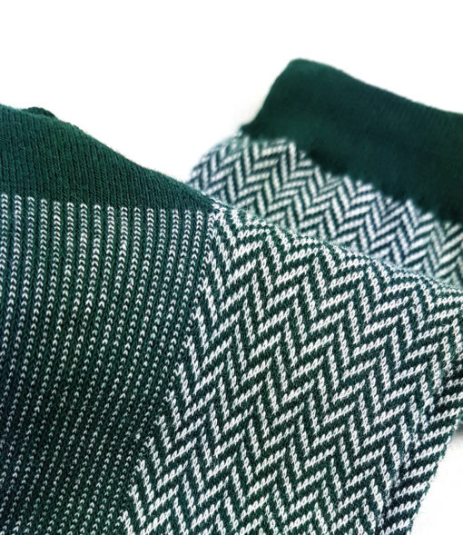 Detailansicht - Business Jacquard-Socken grün