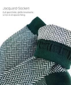Jaquard-Socken klassisch grün
