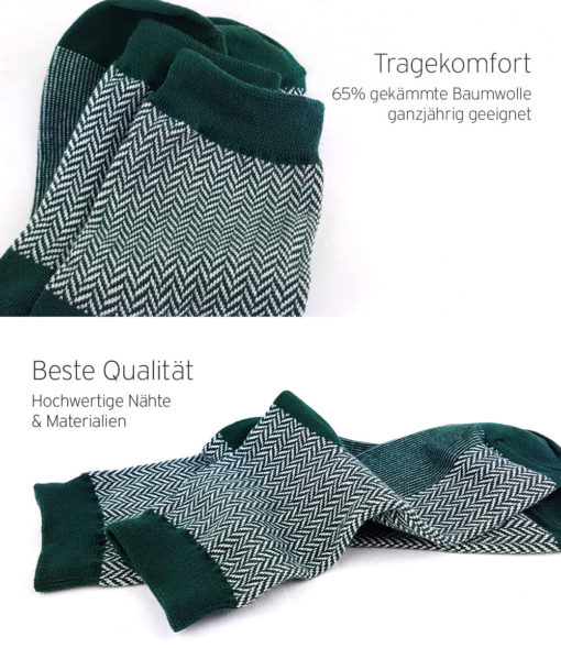 Qualität - Jacquard-Socken grün
