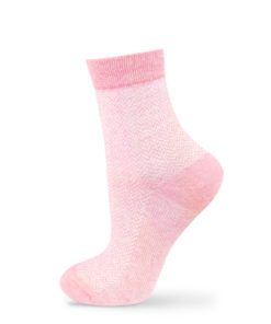 Jacquard-Socken rot
