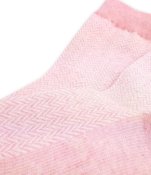 Detailansicht Jacquard Socken rot