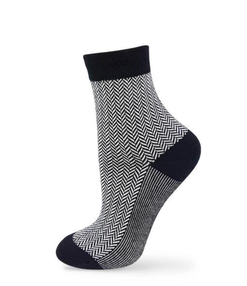 Jacquard Socken Business schwarz