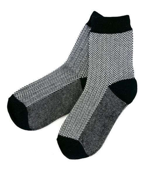 schwarze Business-Socken