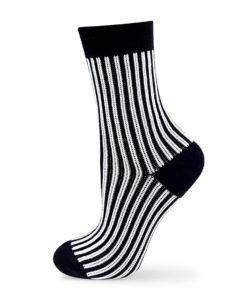 Jacquard Socken klassisch gestreift