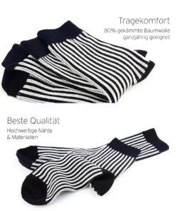Hochwertige Business-Socken gestreift