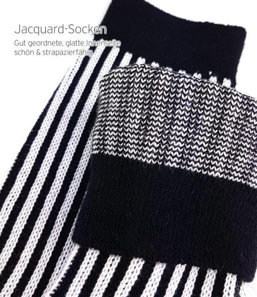 Business-Socken schwarz weiß