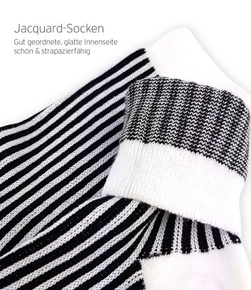 Jaquard-Socken Business weiß