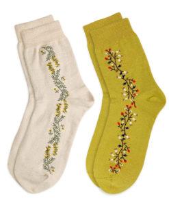Set Socken Blumenstreifen