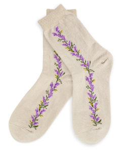 Charaktoes - Socken beige mit Blumen
