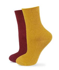 Socken Set gelb und rotbraun