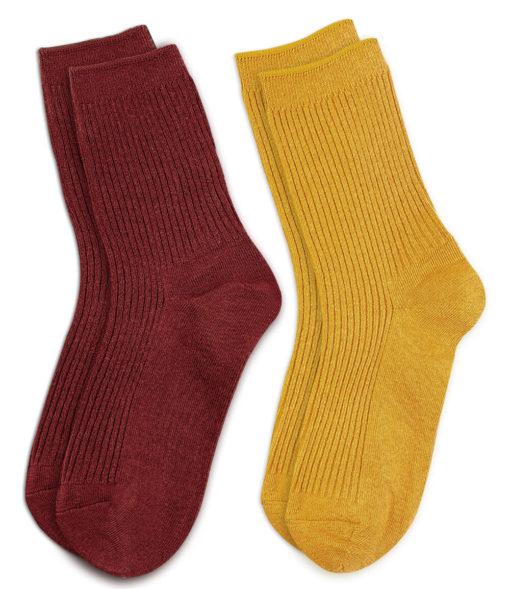 Set Socken gelb und rot