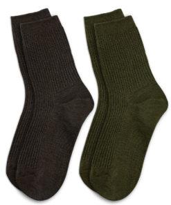 2er Set braune und khaki Socken