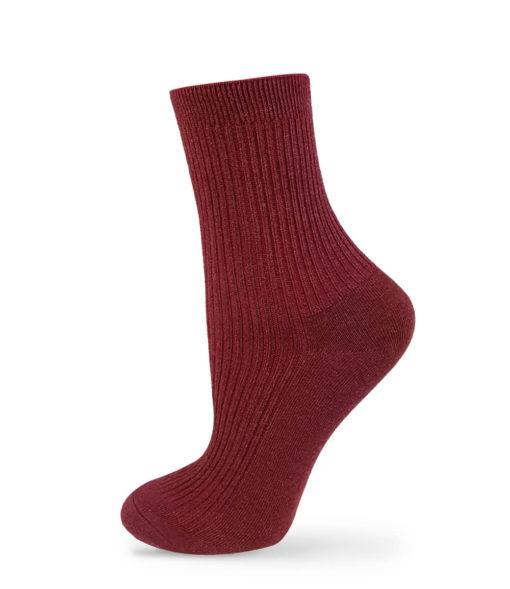 Socken rotbraun basic