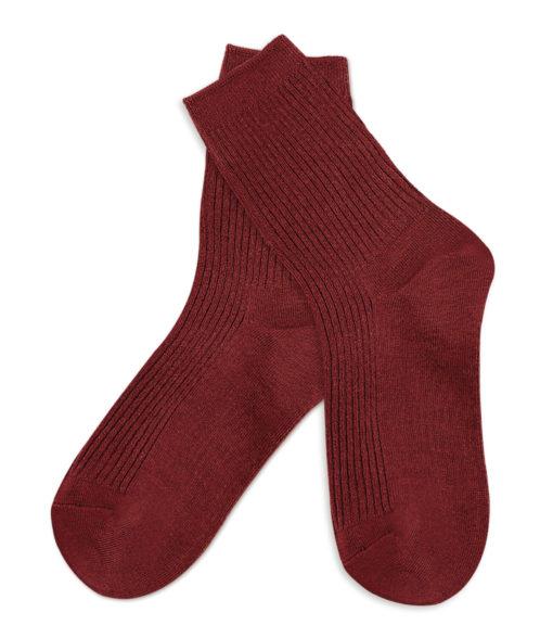 basic Socken rotbraun