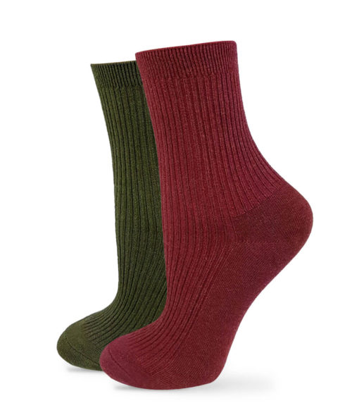 Socken Set rotbraun Khaki