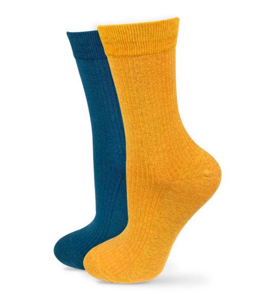 Socken Set gelb und blau