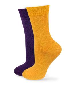 Socken Set gelb und violett