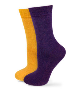 2er Set Socken gelb violett