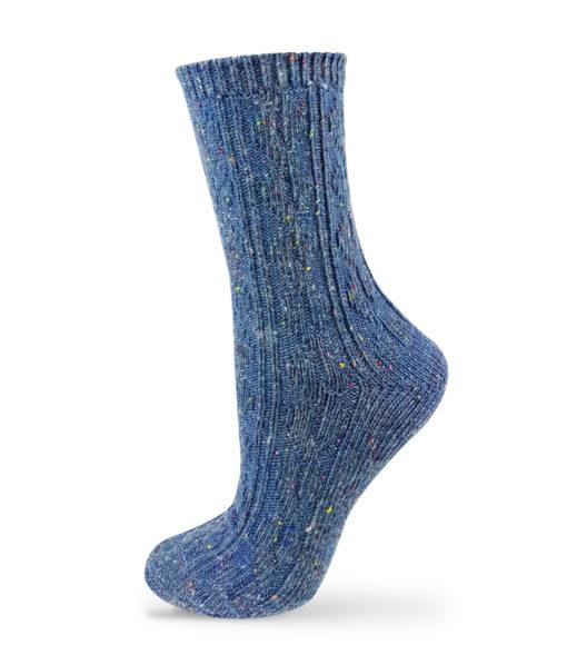 warme Socken blau