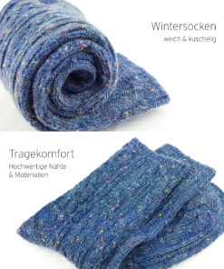 Socken warm kuschlig blau
