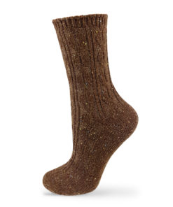 braune Wintersocken