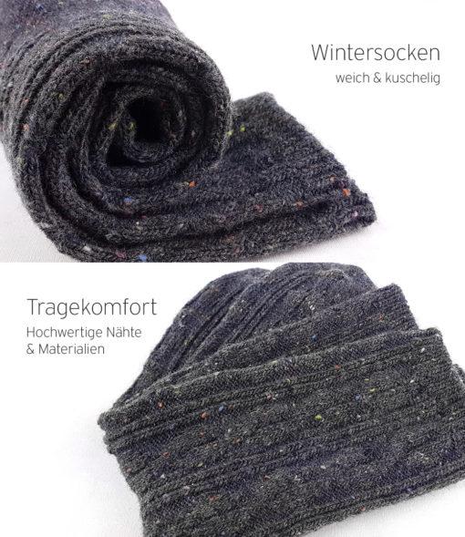 graue Socken Winter