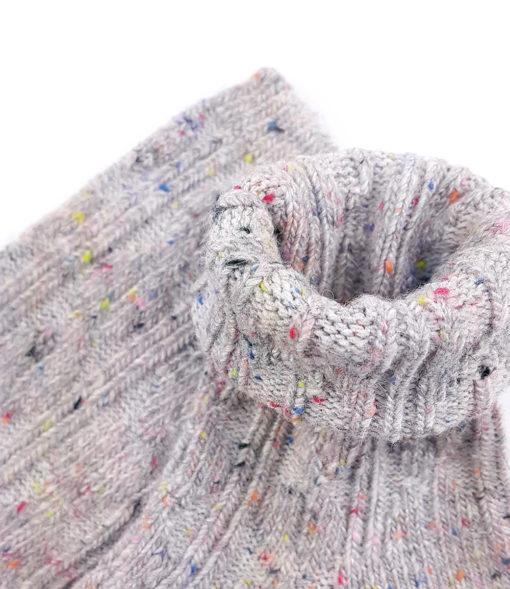 Füßling Socke hellgrau
