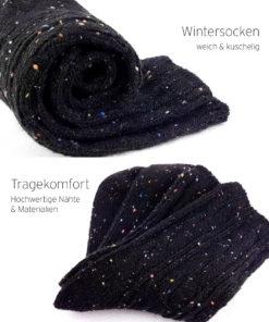 Wintersocken schwarz warm