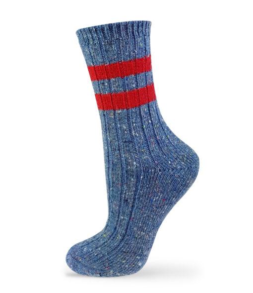 blaue warme Socken