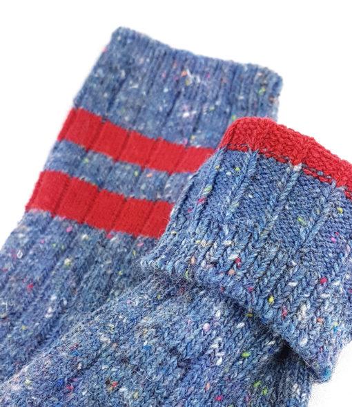 Füßlinge warme Socken blau
