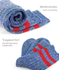 warme blaue Socken