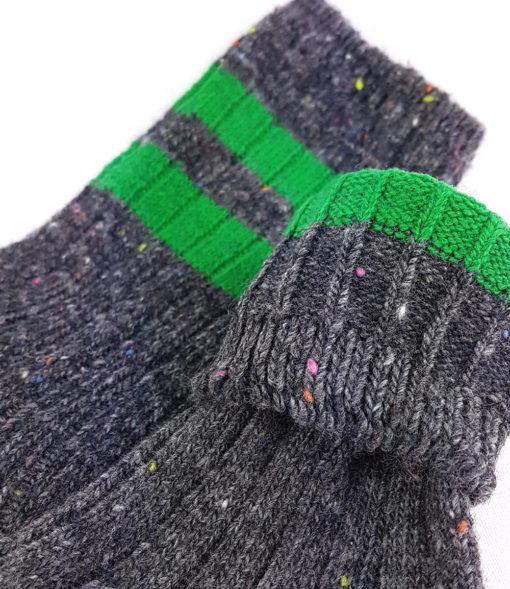 Füßling graue warme Socken