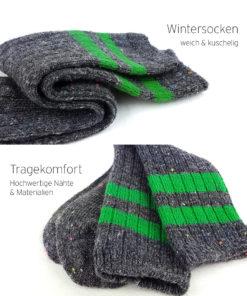 Warme Socken grau grün