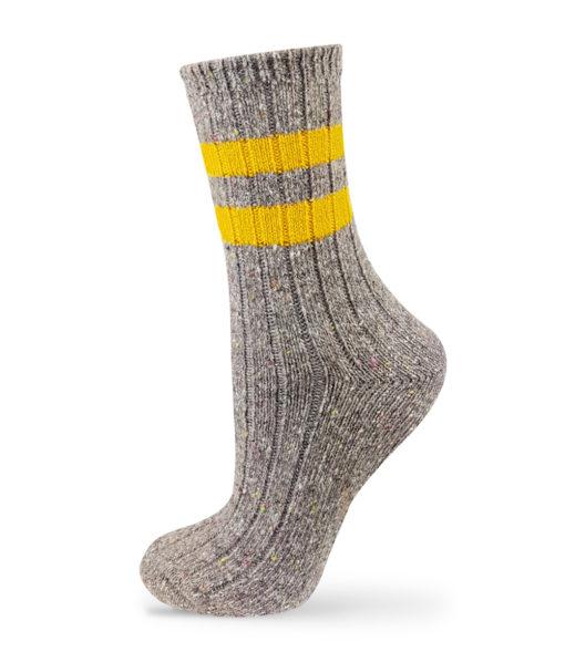 Hellgraue warme Socken